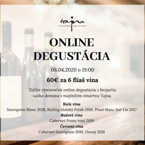 online degustácia vín